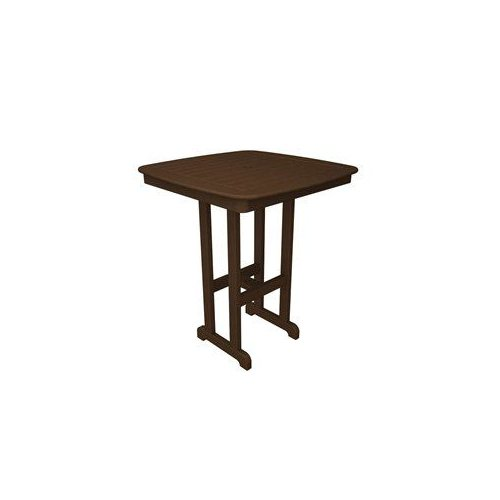 Polywood NCBT37 Nautical Square Outdoor Bar Table