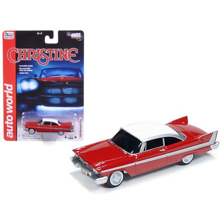 1958 Plymouth Fury Christine 1/64 Diecast Car Model by Autoworld