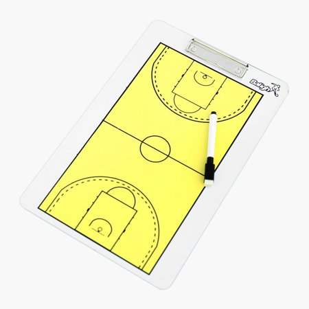 ZEDWELL Sporting Goods Dry-Erase Double Sided Basketball Coaches Clipboard