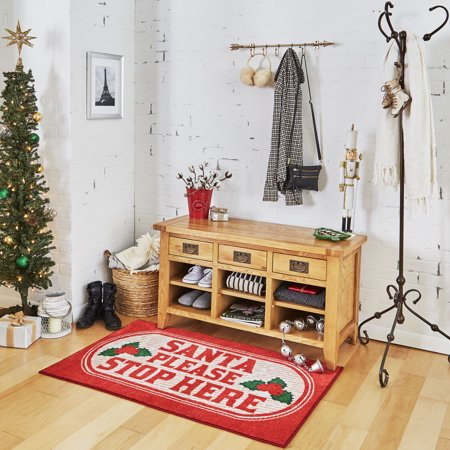 - Mohawk Prismatic Santa Stop Here Red Rug, 2' 6