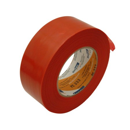 Shurtape PE-333 Economy Stucco Masking Film Tape: 2 in. x 60 yds. (Red with Serrated (Paint Masking Film)