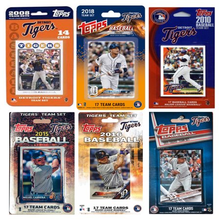 2018 MLB Detroit Tigers 6 Different Licensed Trading Card Team Sets
