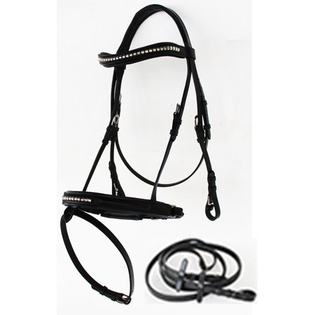 Weatherbeeta English Bridle (Horse English Leather COB Jumping Hunter Schooling Show Equestrian Bridle 803S21-C )