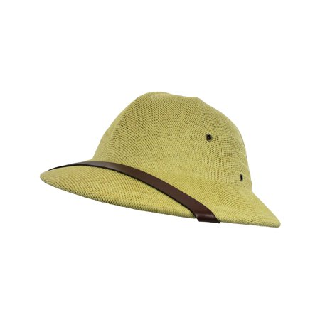 British Pith Helmet Safari Jungle Explorer Hunter African Professor Costume