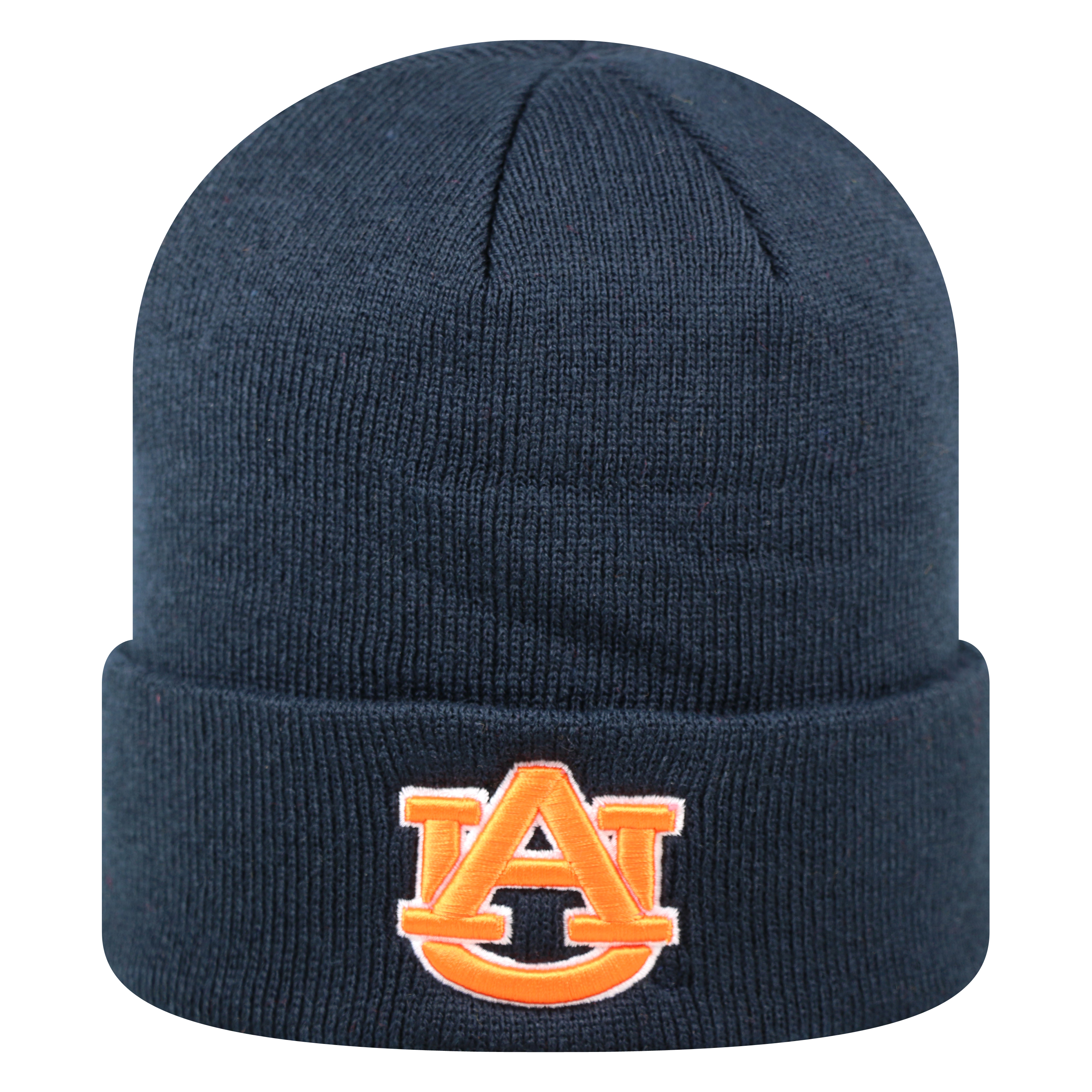Auburn Tigers Official NCAA Cuffed Knit Tow Beanie Stocking Stretch Sock Hat Cap by Top of the World 933399