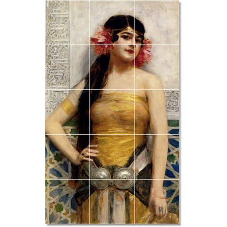 Ceramic Tile Mural Leon Francois Comerre Women Painting 213 36 w x 60