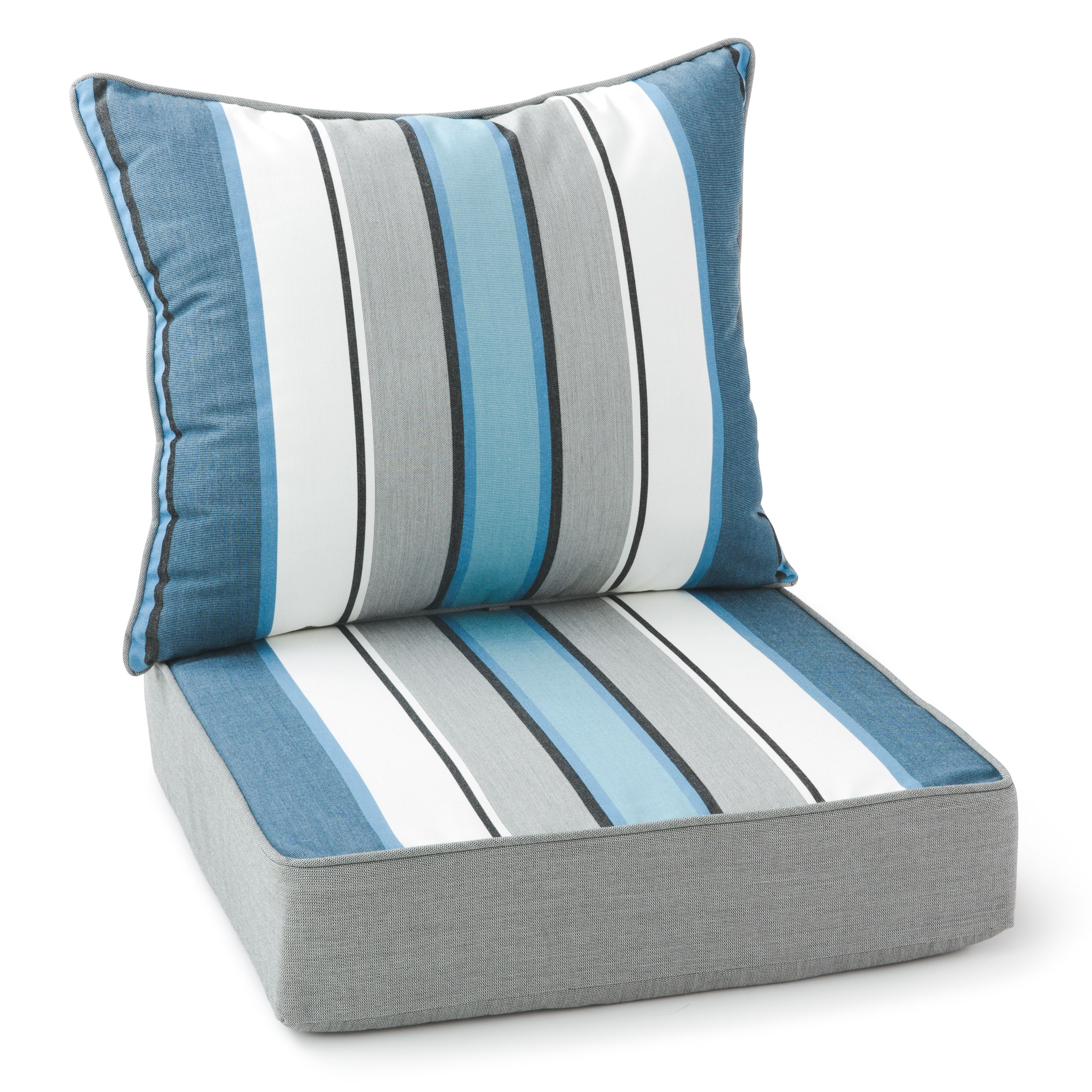 2 Piece Striped Outdoor Lounge Chair