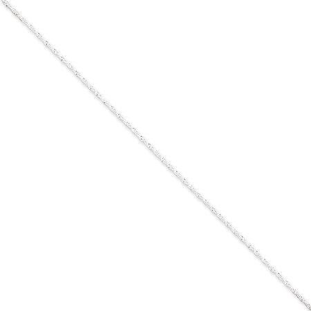 Sterling Silver 1.3mm Singapore Chain Anklet