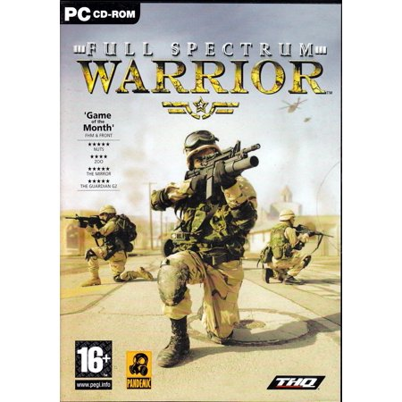 FULL SPECTRUM WARRIOR PC CDRom - Based on a training aid developed for the US