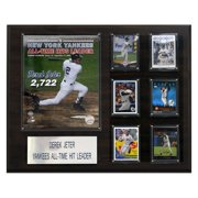 C&I Collectables MLB 16x20 Derek Jeter All Time Yankee Hit Leader New York Yankees Player Plaque