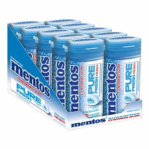 Perfetti Van Melle Mentos Pure Fresh Mint Sugarfree Chewing Gum, 15 Ea (innerpack Of 10)