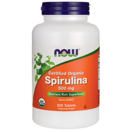 NOW Foods Spirulina 500mg 500 Tabs