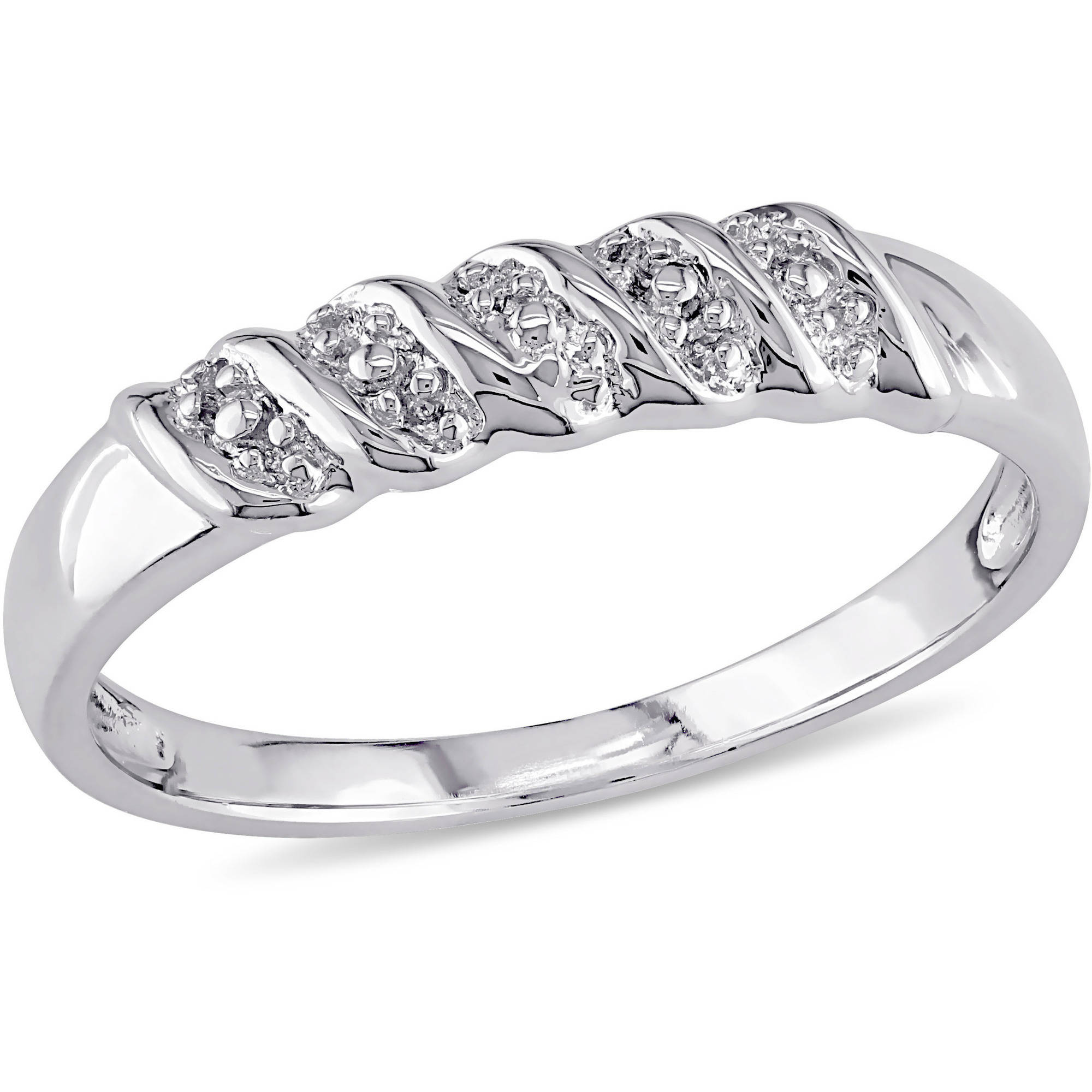 Miabella Sterling Silver Braided Design Wedding Band