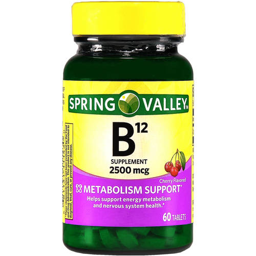 Spring Valley Sublingual B12 Microlozenges, 2500mcg, 60 count
