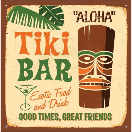 Thirstystone Occasions Drink Coasters, Tiki - Tiki Drinks