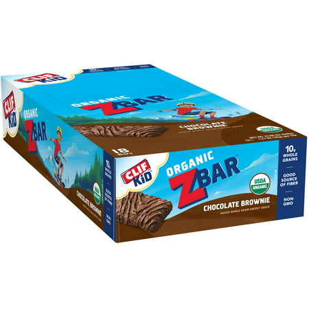 CLIF Kid® Organic ZBar™ Chocolate Brownie Baked Whole Grain Energy Snack 18-1.27 oz. Bars - Halloween Chocolate Brownies