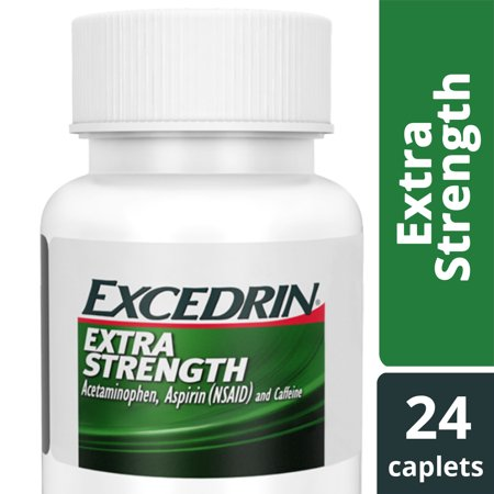 Excedrin Extra Strength for Headache Relief, Caplets, 24