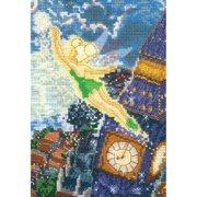 "MCG Textiles Disney Dreams Collection By Thomas Kinkade Tinker Bell-5""X7"" 18 Count"