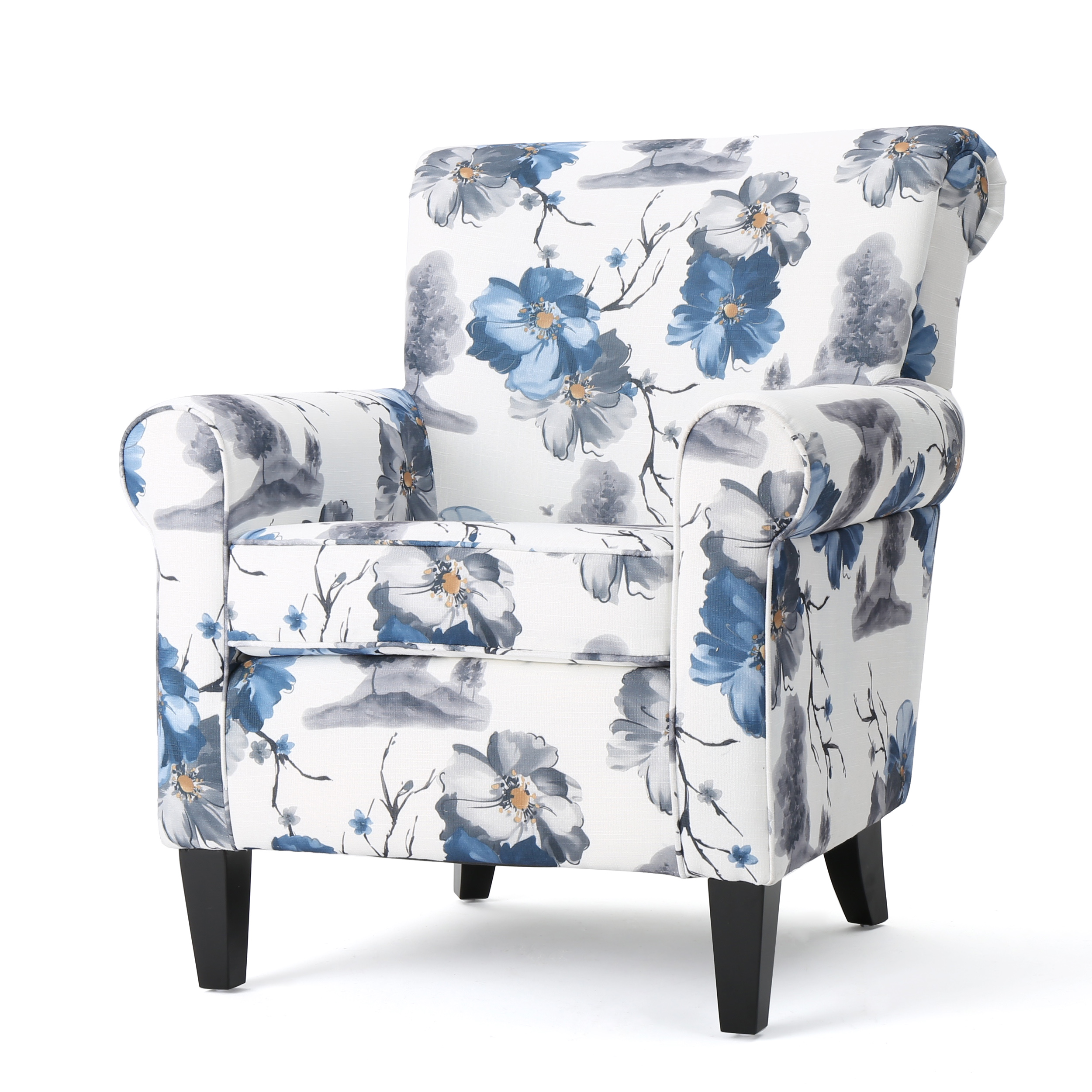 Manon Fabric Club Chair, Floral Print by GDF Studio