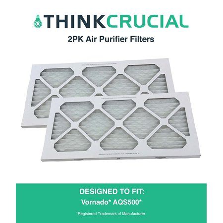 2PK Vornado Air Purifier Filter For Model AQS500, by By Think Crucial