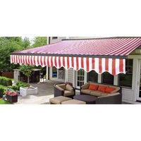 ALEKO 10'x8' Sunshade Half Cassette Retractable Patio Deck Awning, Multiple Colors