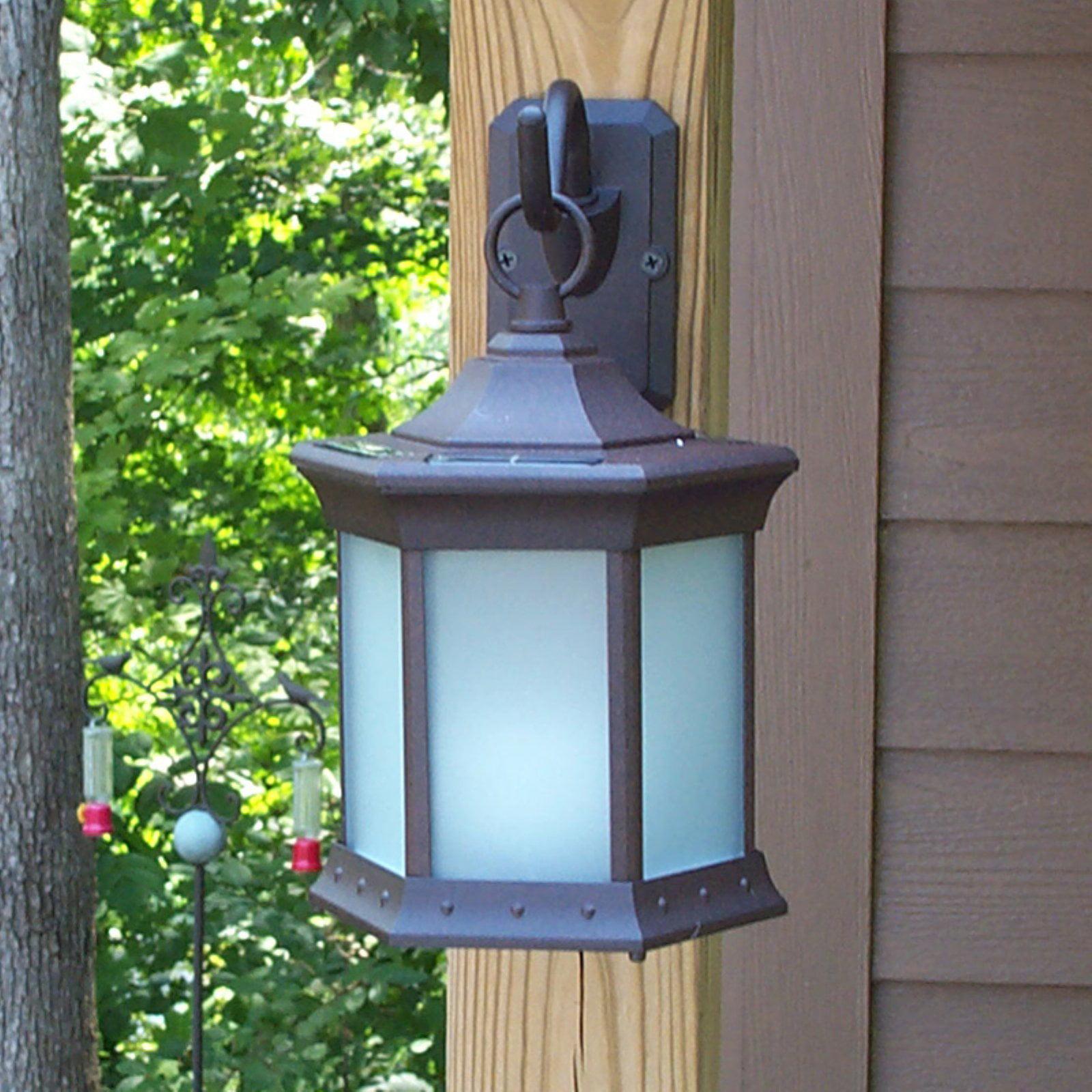 Solar Lantern Sconce by Starlite Garden and Patio Torche Co.