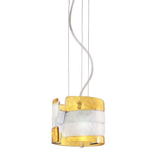 Eurofase Lighting 12615 Fluid 1 Light Modern Mini Pendant with Saffron Yellow an by Eurofase Lighting