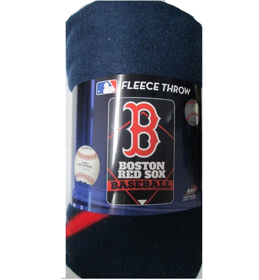 "MLB 062344 Boston Red Sox 40""x60"" Fleece Throw Blanket"