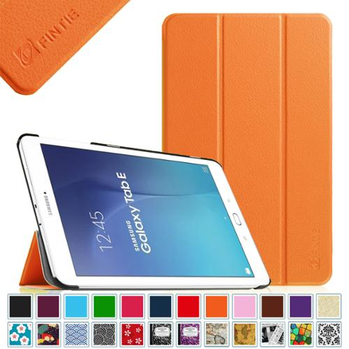 Samsung Galaxy Tab E 9.6 / Tab E Nook 9.6 Inch Tablet Case - Fintie Ultra Slim Lightweight Stand Cover, Orange