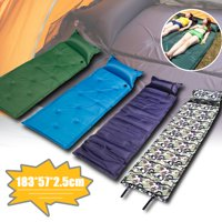 Camping Self Inflating Sleeping Pad with Attached Pillow - Lightweight Air Sleeping Pads Carry Bag,Outdoor Camping Waterproof Picnic Beach Sporting Folding