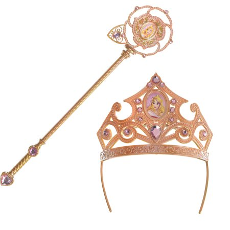 Sleeping Beauty Aurora Costume Accessory Kit, Includes a Crown and a Wand](Sleeping Beauty Girls Costume)