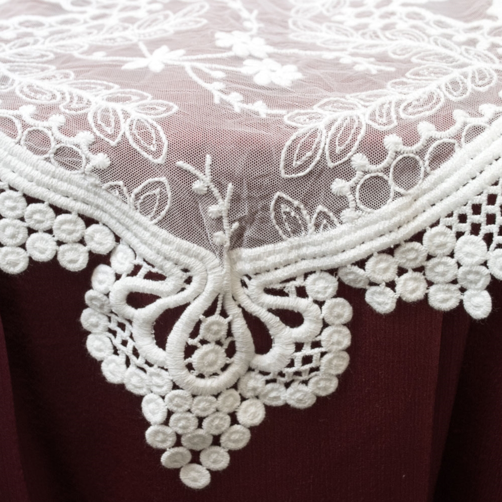 2 Pcs Table Decor White Lace Table Runner Vintage Wedding Decor 12 X
