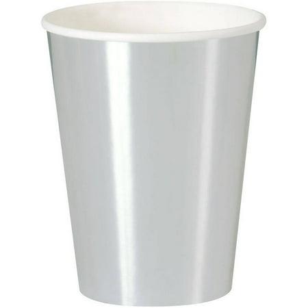 - Paper Cups, 12 oz, Silver Foil, 8ct