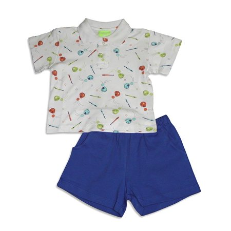 - Snopea Baby Infant Newborn Boys Cotton Short Set - Choose from 16 different Sets, 29675 BASEBALL ROYAL / 6Months