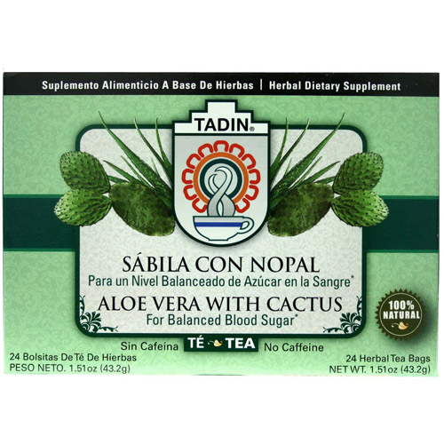 Tadin Aloe Vera with Cactus Herbal Tea Bags, 24 count, 1.51 oz