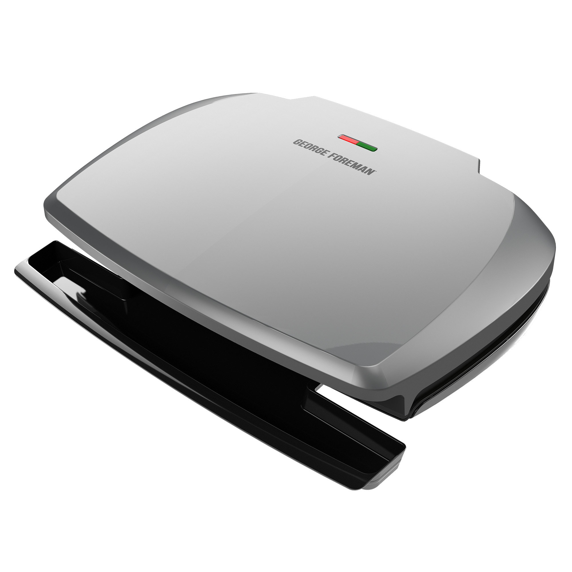 George Foreman 9-Serving Classic Plate Grill and Panini Press, Silver, GR390FP