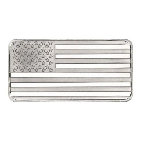 Silver Hollowware (SilverTowne USA Flag 10 oz Silver Bar)