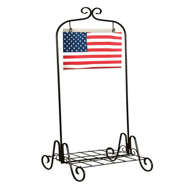 Panacea 88131 Plant Stand With US Flag, 36""