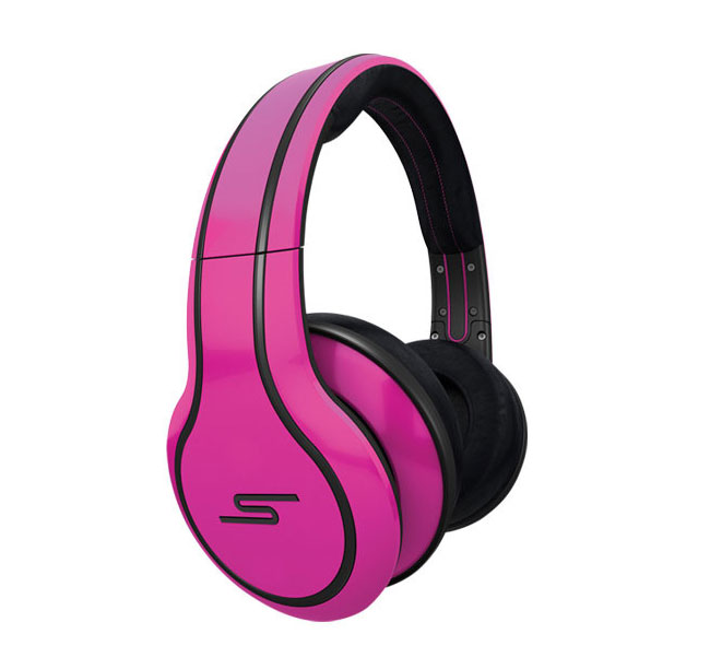 SMS Audio STREET by 50 Magenta Classic Style Headphones