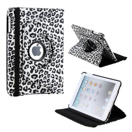 360 Degree Rotating PU Leather Case Smart Cover With Swivel Stand for Apple iPad Mini / Mini Retina / Mini 3 Case (Released 2014) ()