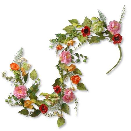 5' Spring Flower Garland ()
