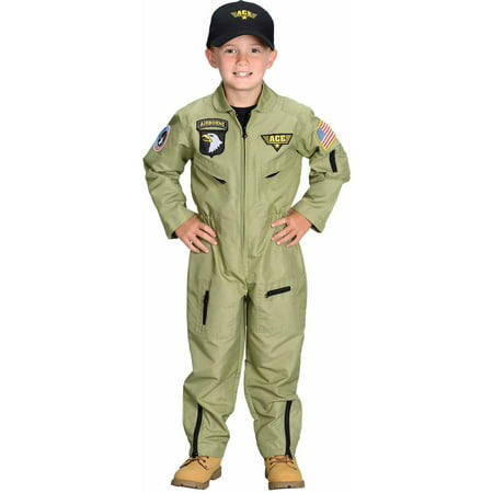 Fighter Pilot Child Halloween Costume - Black Ninja Boy Fighter Child Halloween Costume