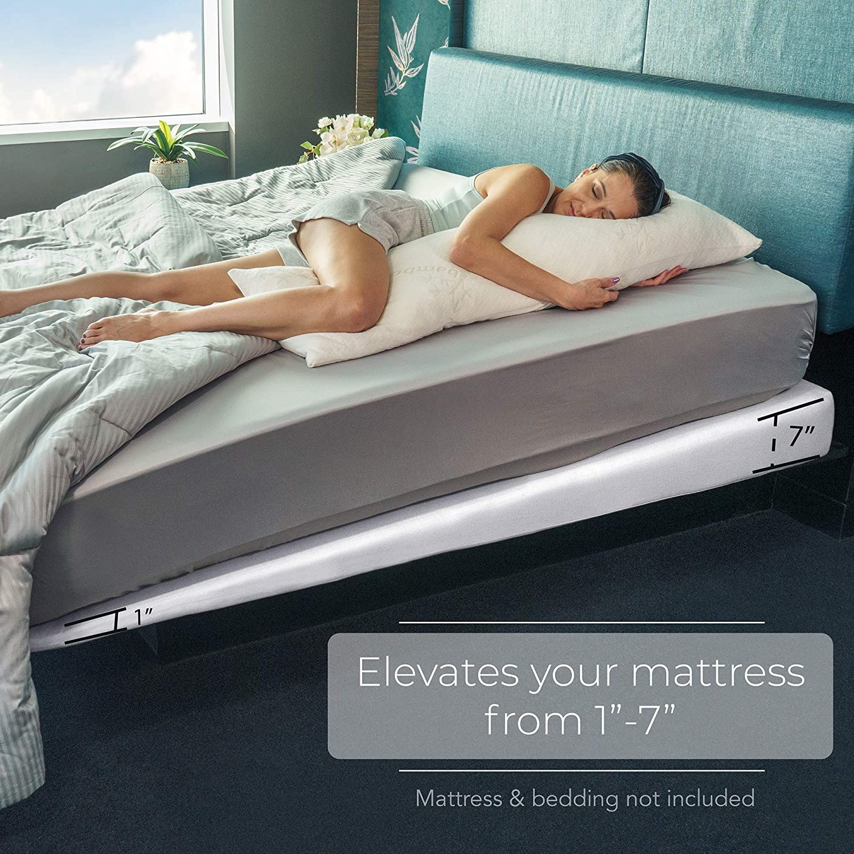 Avana Mattress Elevator Under Bed 7 Inch Incline Foam Support Walmart Com Walmart Com