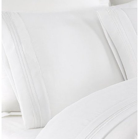 NC Home Fashions Beauty In Basic Solid Color Sheet set, Twin , Bright White