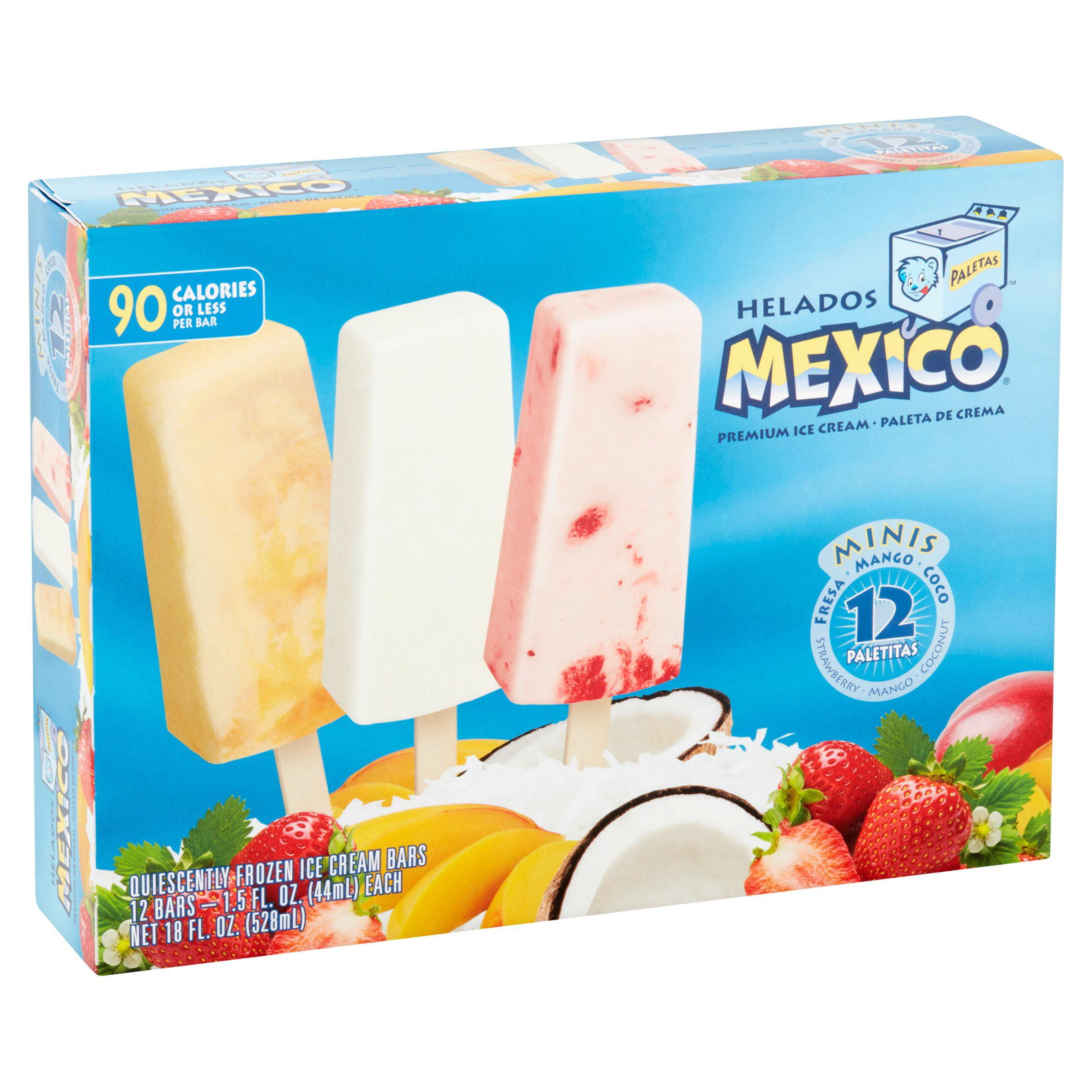 helados mexico assorted flavors minis ice cream bars 15 fl oz 12 ct walmartcom