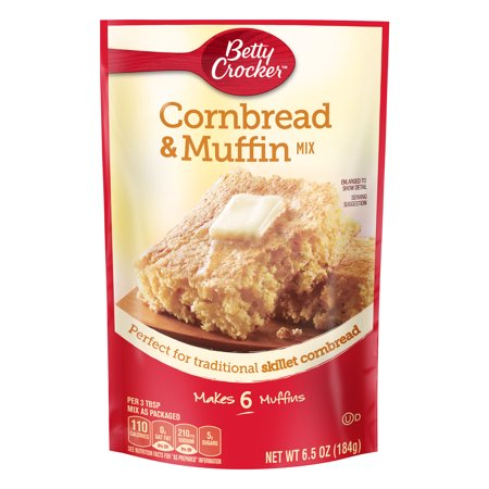(3 Pack) Betty Crocker Cornbread and Muffin Mix, 6.5