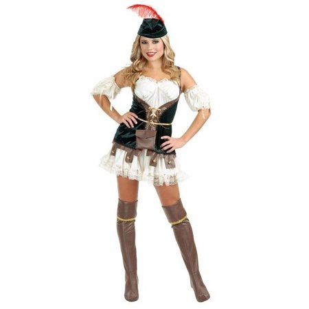 Charades Sexy Robin Hood Womens Fairytale Halloween Costume (Halloween Charades Words)