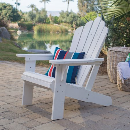 Belham Living Seacrest Cottage All Weather Resin Adirondack Chair - White ()