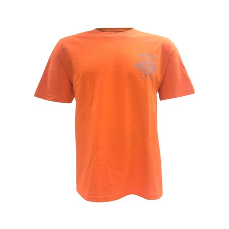 Harley-Davidson Men's Bleed Orange Winged B&S Short Sleeve T-Shirt, Orange, Harley Davidson