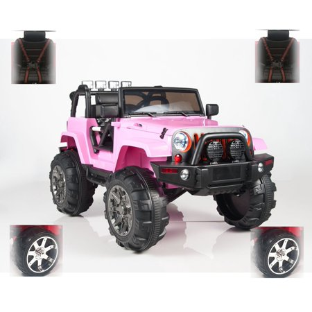 New 4x4 Eva Edition Jeep Wrangler Style 12v Ride On Toy Car With